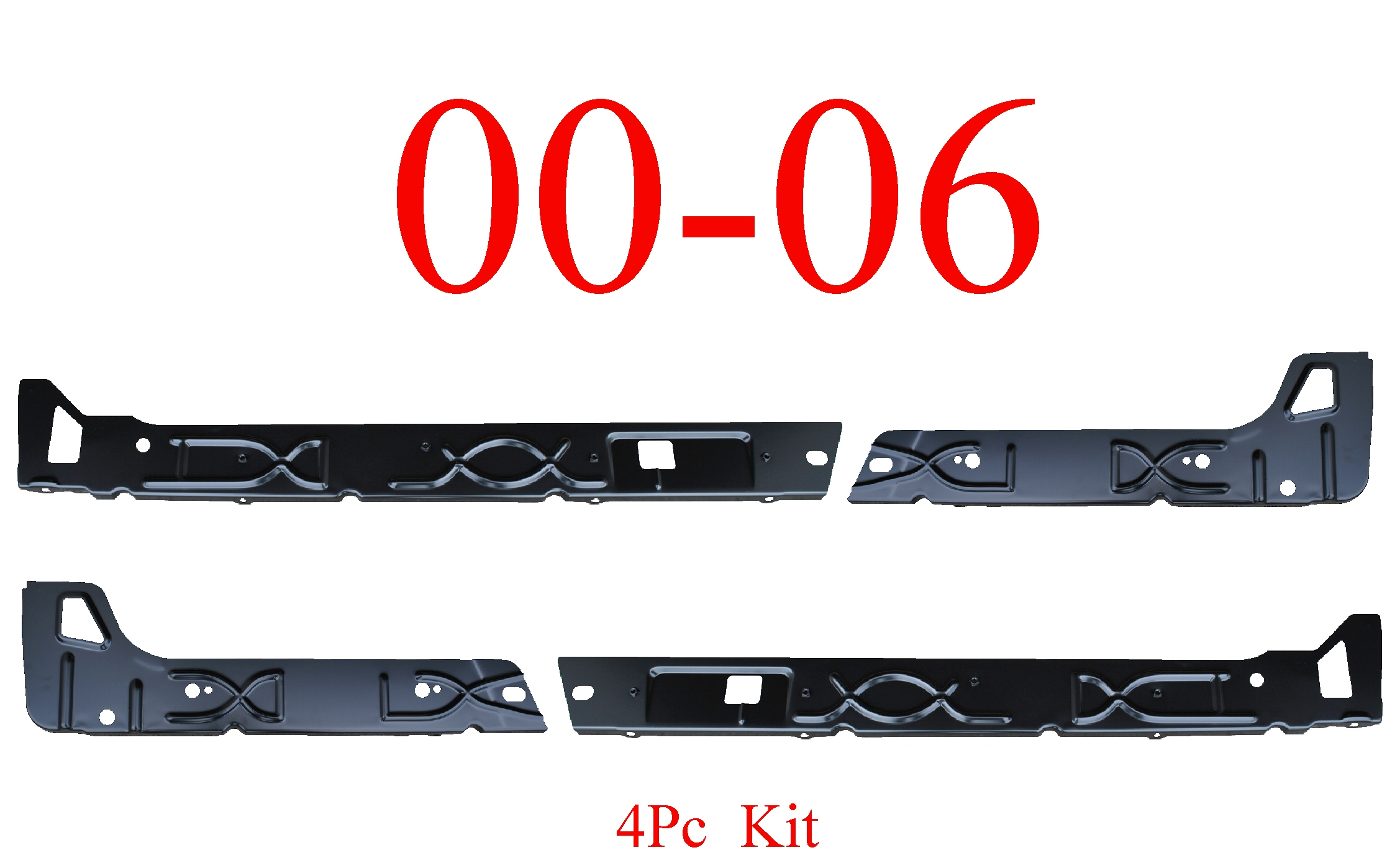 00-06 Chevy SUV 4Pc Inner Rocker Panel